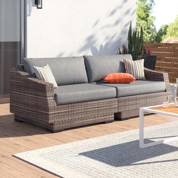 Wade Logan® Castelli Patio Sofa with Cushions & Reviews | Wayfa