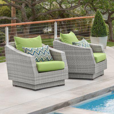 Wade Logan Castelli Patio Chair with Sunbrella Cushions Cushion .