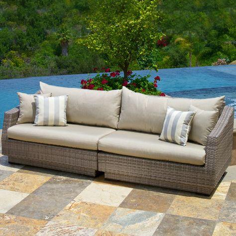 Castelli Patio Sofa with Cushions | Outdoor furniture sofa .