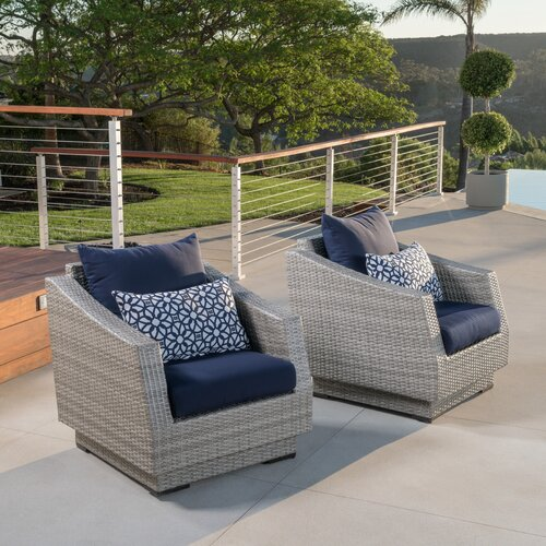 Wade Logan Castelli Patio Chair with Cushions & Reviews | Wayfa