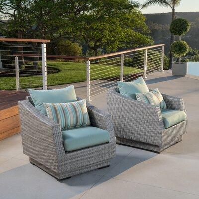 Wade Logan Castelli Patio Chair with Acrylic or Sunbrella Cushions .