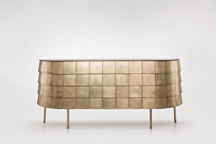Yoroi Sideboard by De Castelli, Designed by Alessandro Masturzo .