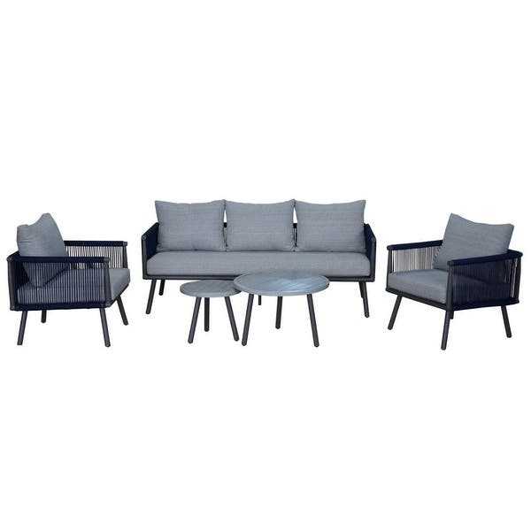 Shop Courtyard Casual Spring Valley 5 Piece Set with 1 Sofa, 2 .