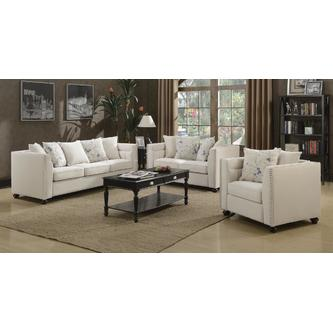 Esofastore Casual Modern Classic Beige 3pc Sofa Set Living Room .
