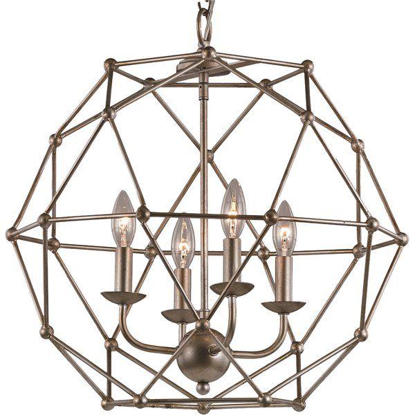 Cavanagh 4 - Light Unique / Statement Geometric Chandelier | Globe .