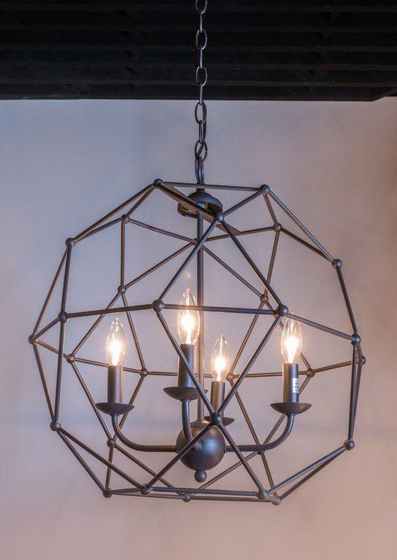 Levingston 4-Light Globe Pendant | Geometric chandelier, Globe .