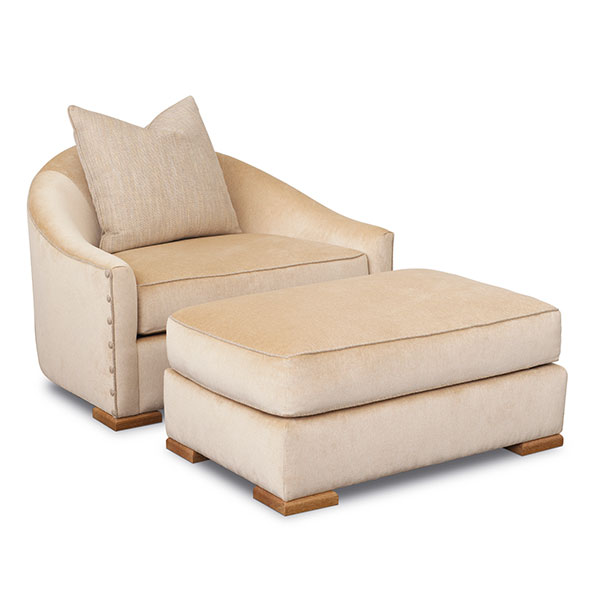 Dupre Lafon Chair and Ottoman - Lounge Chairs, Ottomans, Benches .
