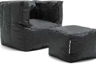 Amazon.com: Big Joe Cube Stretch Limo Smartmax with Ottoman, Black .