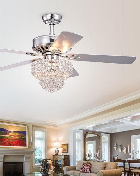 Home Accessories Tiered Crystal Chandelier Ceiling Fan in 2020 .