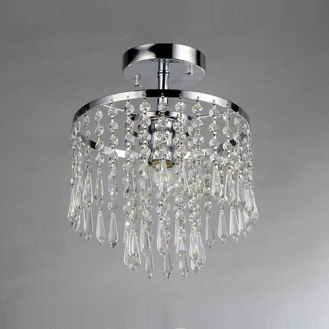 Home Accessories Inc 1-Light Chrome Modern/Contemporary Crystal .