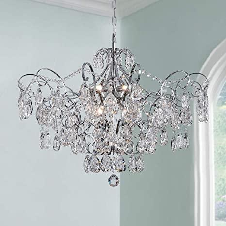 Modern Pendant Chandelier Crystal Raindrop Lighting Ceiling Light .