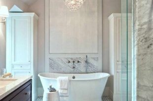 Fancy Bath Lighting: Inspiration and Tips for Hanging a Chandelier .