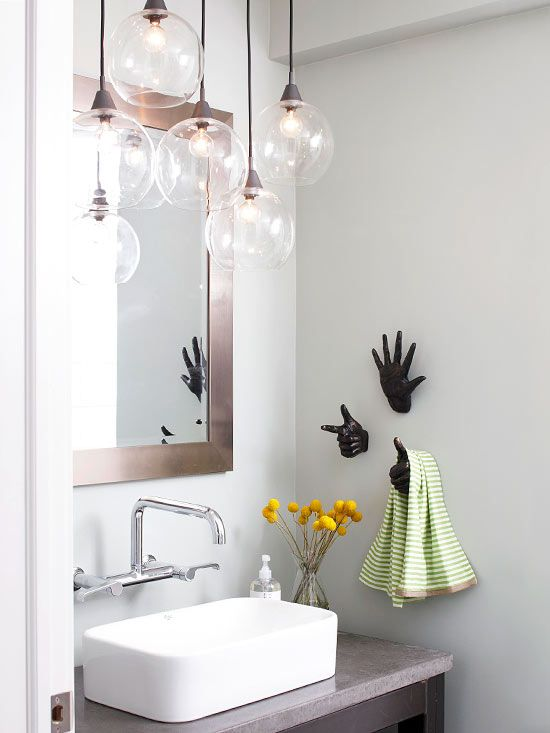 Bathroom Lighting Ideas | Bathroom chandelier, Small bathroom .