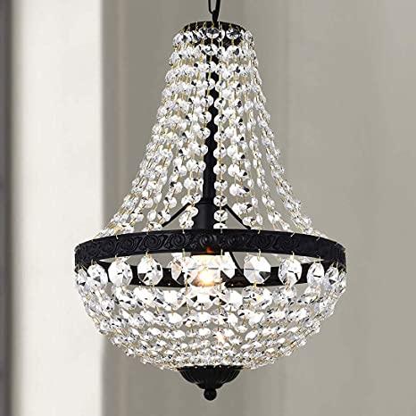 Bestier Modern French Empire Black Finish Farmhouse Crystal .