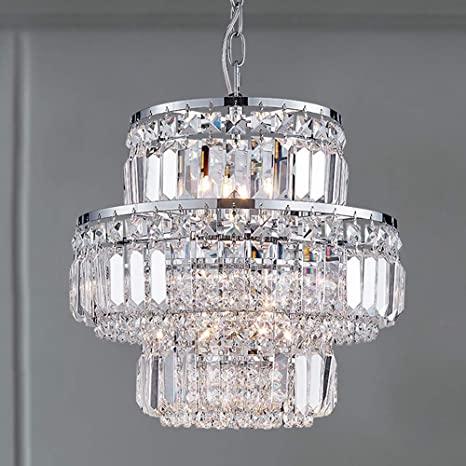 Bestier Modern Pendant Crystal Raindrop Chandelier Lighting LED .