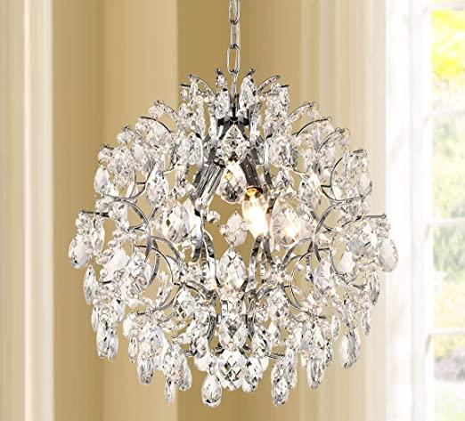 Bestier Modern Pendant Chandelier Crystal Raindrop Lighting .