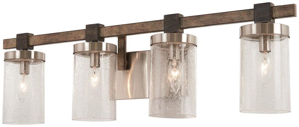 Minka Lavery Bridlewood 4-Light Bathroom Vanity Light in Stone Gr