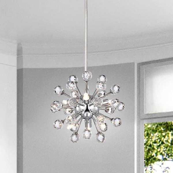 Shop Clara Modern 6-light Chrome Sputnik Clear Crystal Balls .