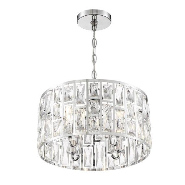 Home Decorators Collection Kristella 4-Light Chrome Chandelier .