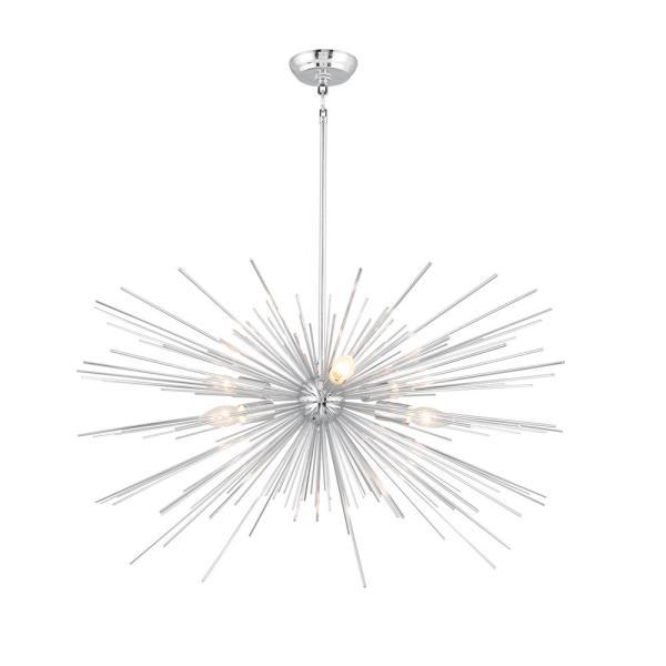 Unbranded 6-Light Chrome Assembled Sputnik Chandelier-LZ1206-6CA .