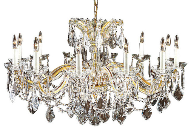 Maria Theresa Crystal Chandelier for Low Ceilings - Traditional .