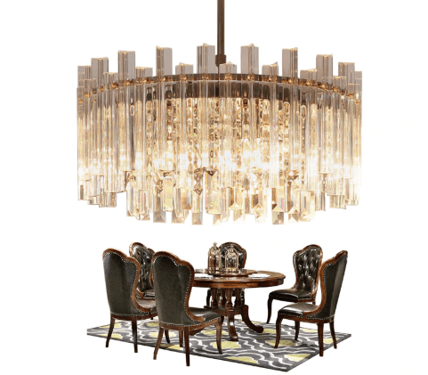 Luxury/Modern Crystal High/Low Ceiling Living Room Pendant light. Co
