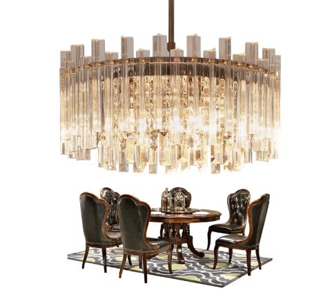 Luxury/Modern Crystal High/Low Ceiling Living Room Pendant light. Co