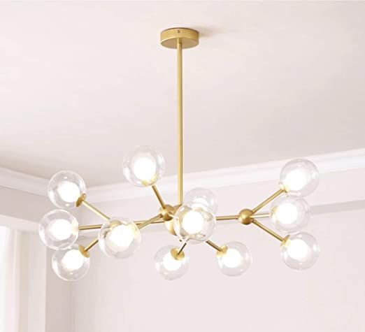Dellemade XD00940 Sputnik Chandelier for Bedroom, Globe Ceiling .