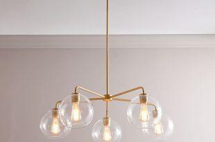 Sculptural Glass 5-Light Globe Chandelier - Cle
