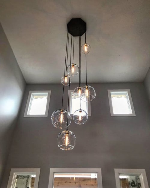 Globe Chandelier – Customizable by Dan Cordero seen at Private .