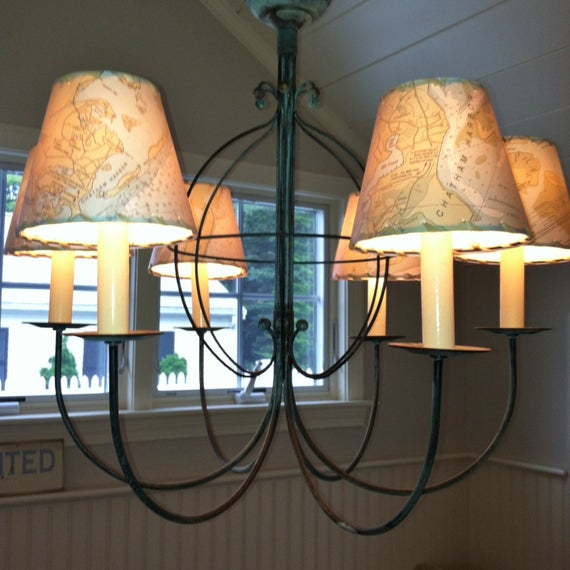 Ocean Chart Chandelier Lampshades Wall Sconce Shades Tiny | Et
