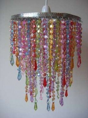 Beaded Chandelier Lamp Shades - Ideas on Fot