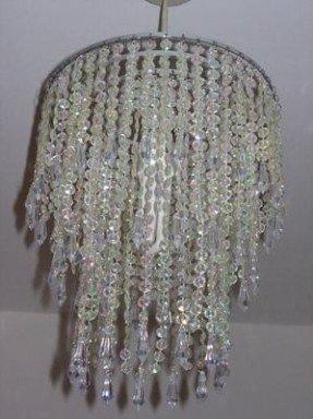 Beaded Chandelier Lamp Shades - Ideas on Fot