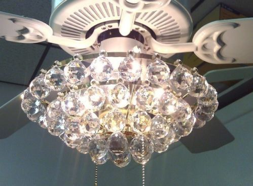 Acrylic Crystal Chandelier Type Ceiling Fan Light Kit | Ceiling .