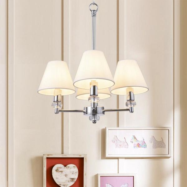 CASAINC Set of 6-Lights Empire Lampshade Small Chandelier Lamp .