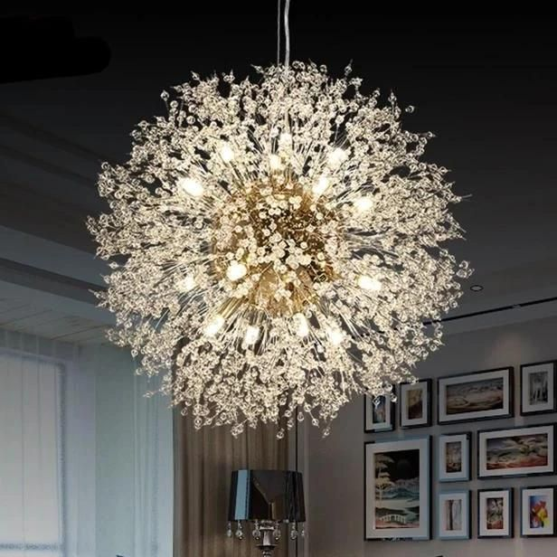 Modern LED Dandelion Crystal Chandelier Lighting Fixture/Ceiling .