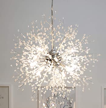 GDNS Chandeliers Firework LED Light Stainless Steel Crystal .