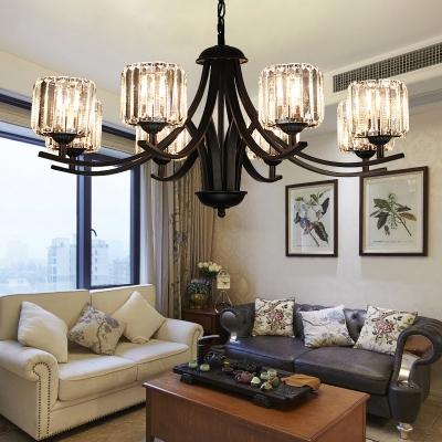 Modern Chandelier Light Fixture Living Room Crystal Chandelier .