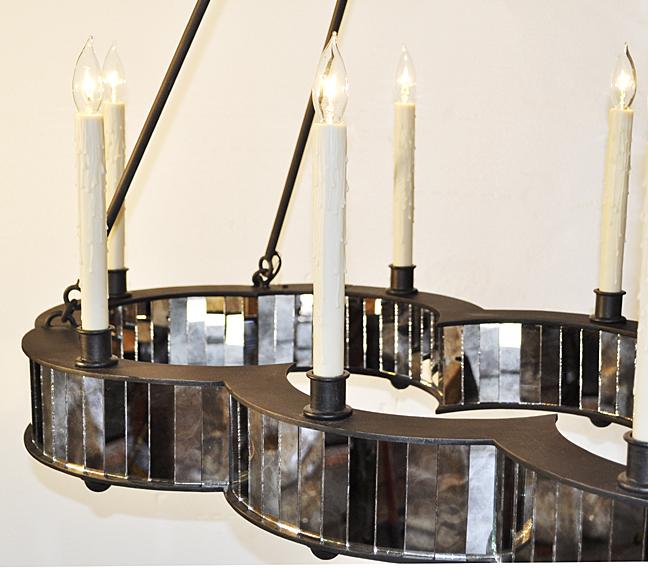 Antique Mirror Chandelier CH0