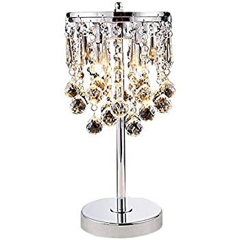 Hsyile KU300144 Elegant Modern Chrome Crystal Chandelier for .