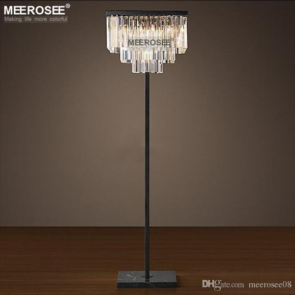 Vintage Crystal Floor Lamp Lustres Floor Stand Light Fixture .