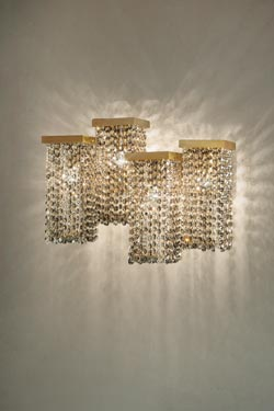 Skyline Large smoked crystal wall light | Masiero | Murano and .