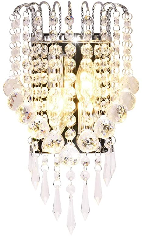 Surpars House Crystal Wall Lamp, Silver - - Amazon.c