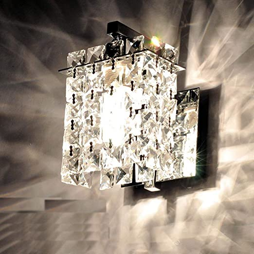 Amazon.com: Jorunhe Modern Crystal LED Wall Lights Aisle/Bedside .