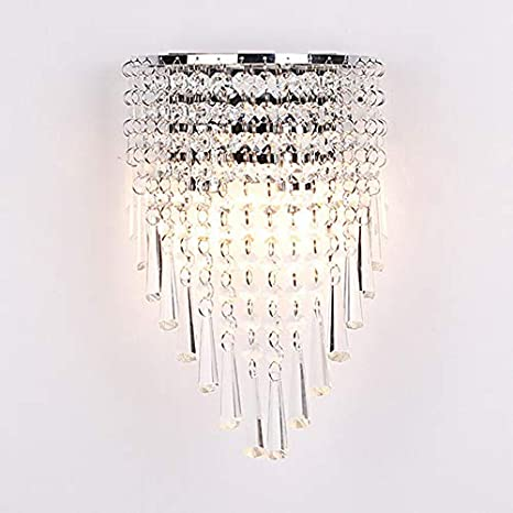 LITFAD Clear Cone Crystal Wall Mount Light Fixture Modern K9 .
