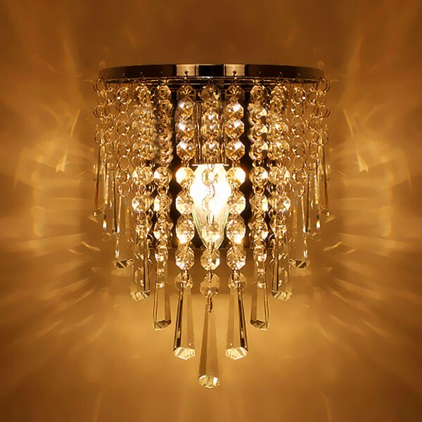 Modern Crystal Chandelier Wall Light Lighting Fixture E14 LED wall .