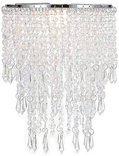 Waneway Acrylic Chandelier Shade, Ceiling Light Shade Beaded .
