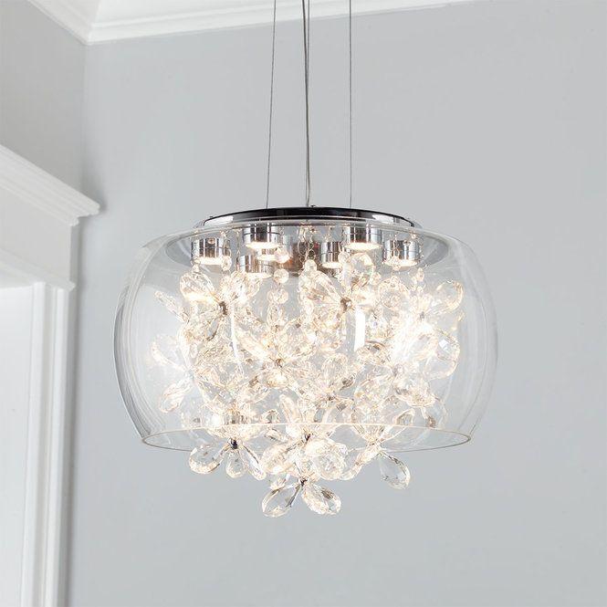 Modern Crystal Flowers LED Pendant | Crystal pendant lighting .