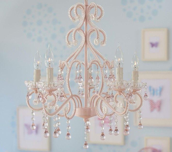 Pink Lydia Chandelier | Kids chandelier, Girls chandelier, Girls .