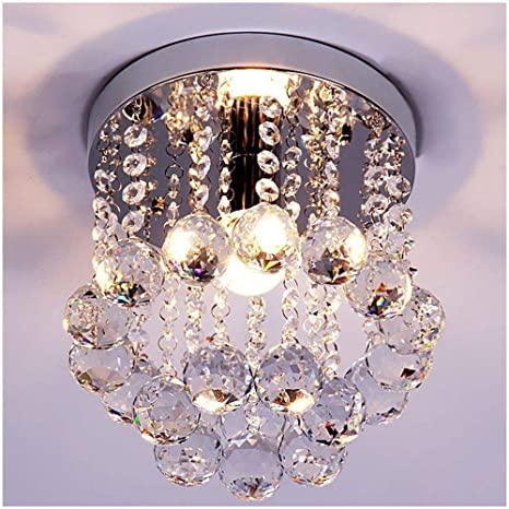 ZEEFO Crystal Chandeliers Light, Mini Style Modern Décor Flush .